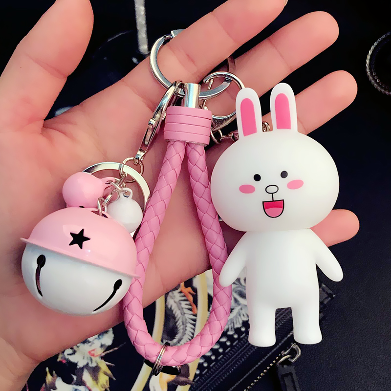 Kenny Rabbit Pink Bell Pink Rope