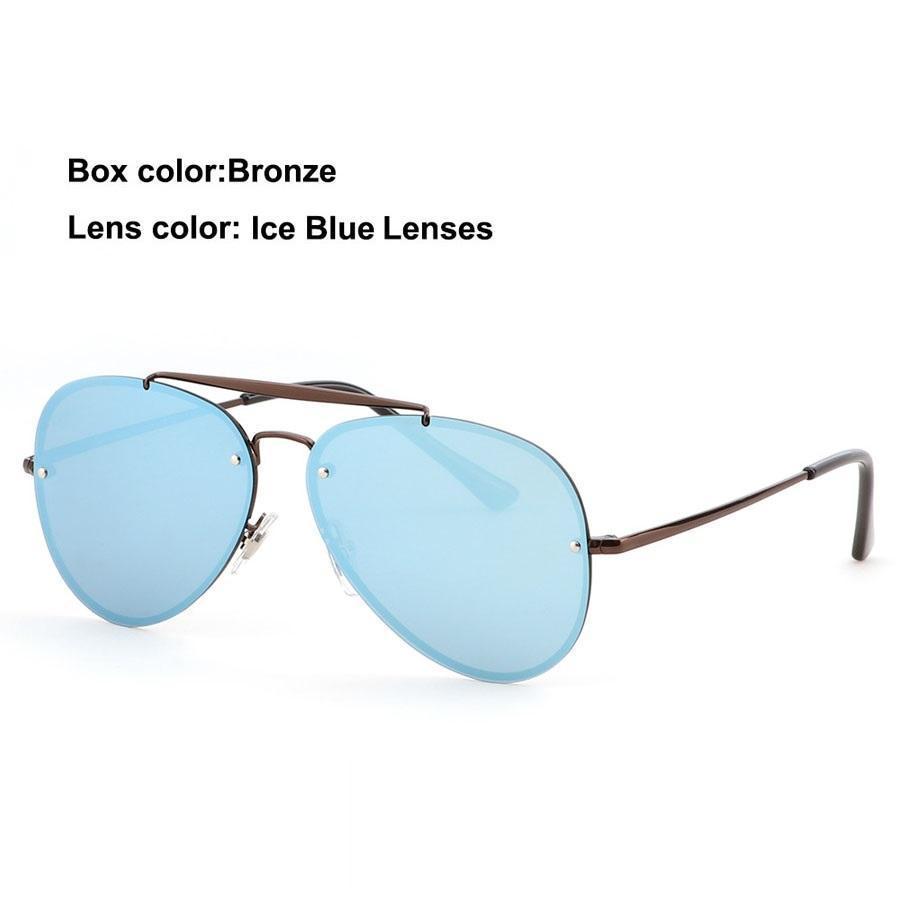 bronze ice blue