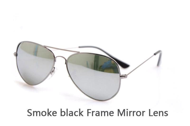 Smoke black Frame Mirror Lens