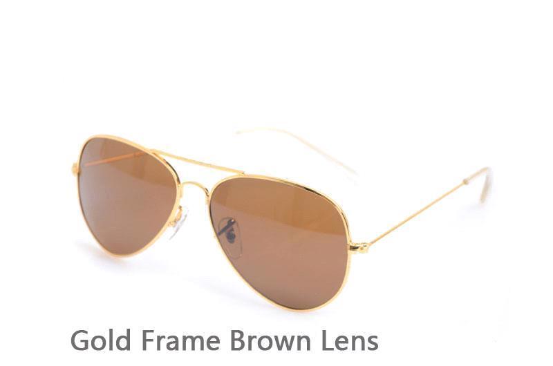 Gold Frame Brown Lens