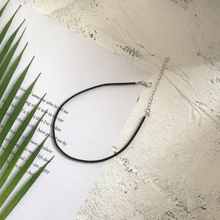 Black 0.3cm Clavicle Chain A-