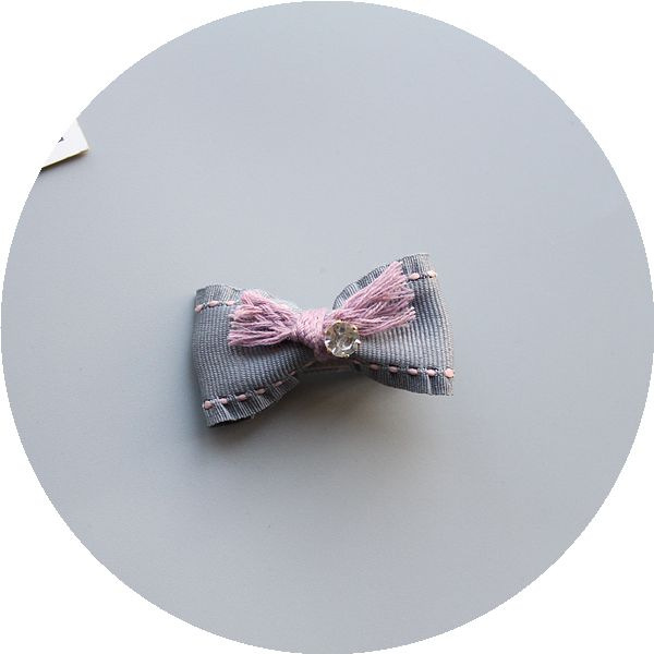 Gray Blue Bow Single Style