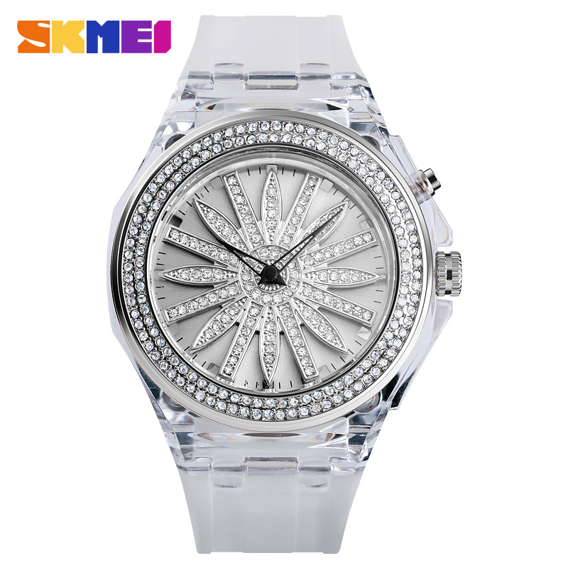 Transparent Weiß / Silber-Ring