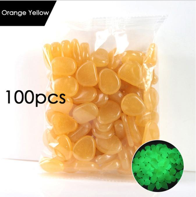 100pcs del amarillo anaranjado