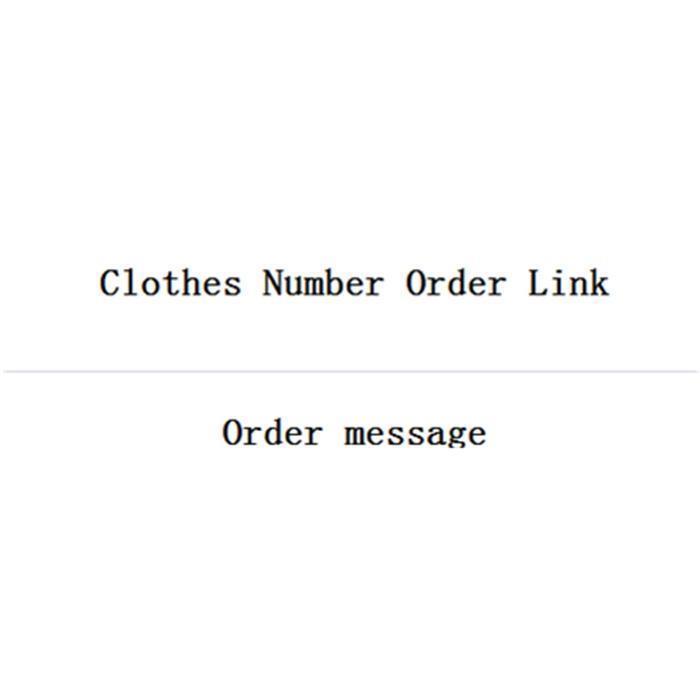 Numéro lien de commande de vêtements