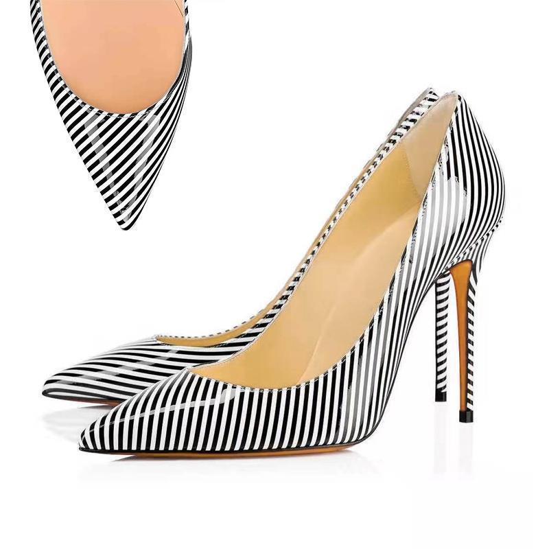 9 a punta in pelle zebra Toe