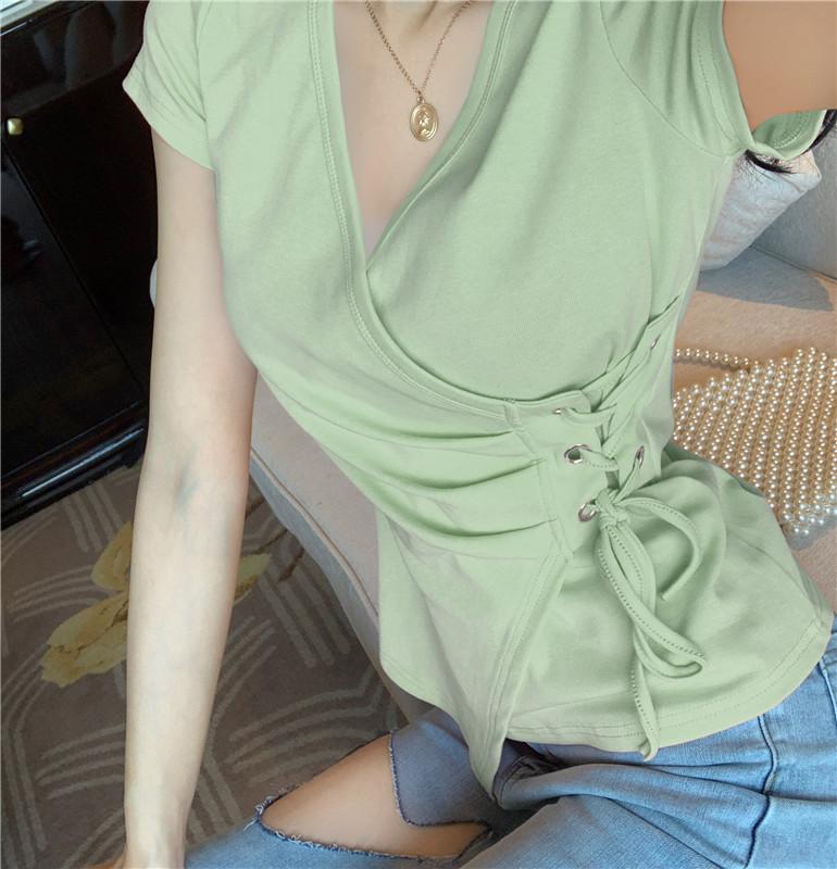 Verde de manga curta