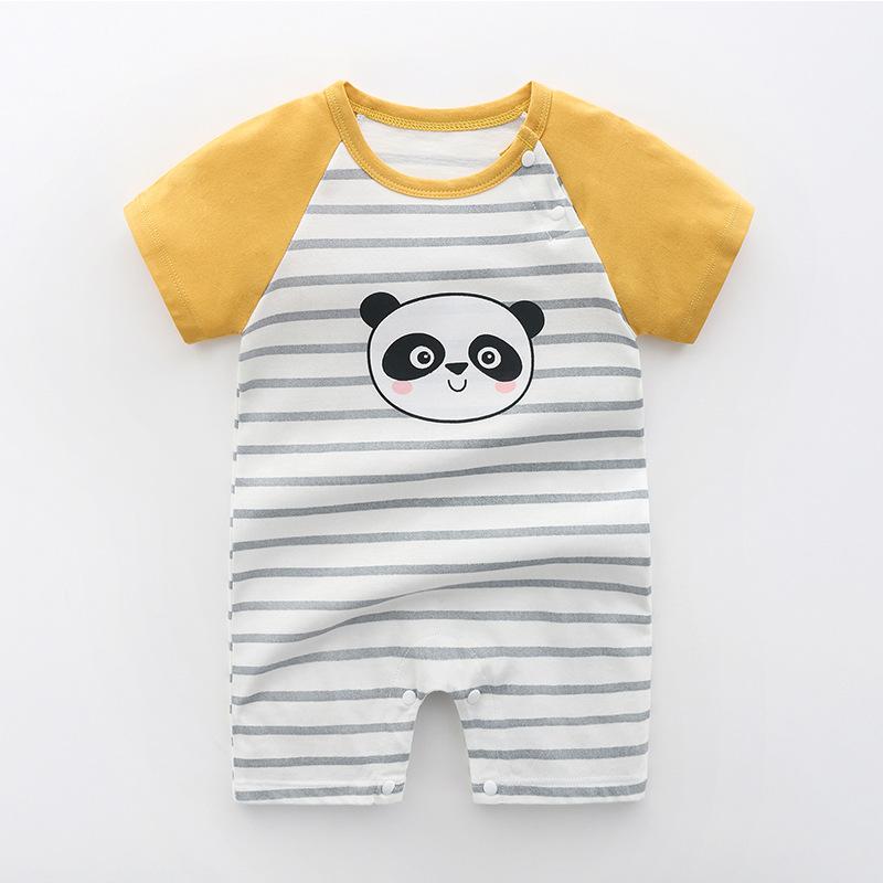 Yellow Striped Panda (Pure Cotton)