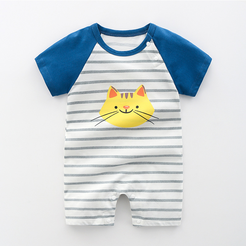 Blue Striped Cat (Pure Cotton)
