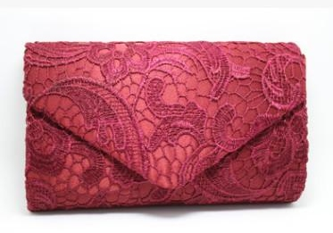 Wine Red Evening Bag