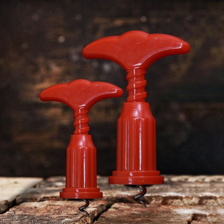 Kırmızı Renk Şarap Tirbuşon 2 adet