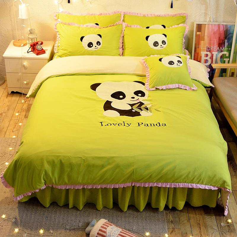 Nette Panda-grüne Farbe