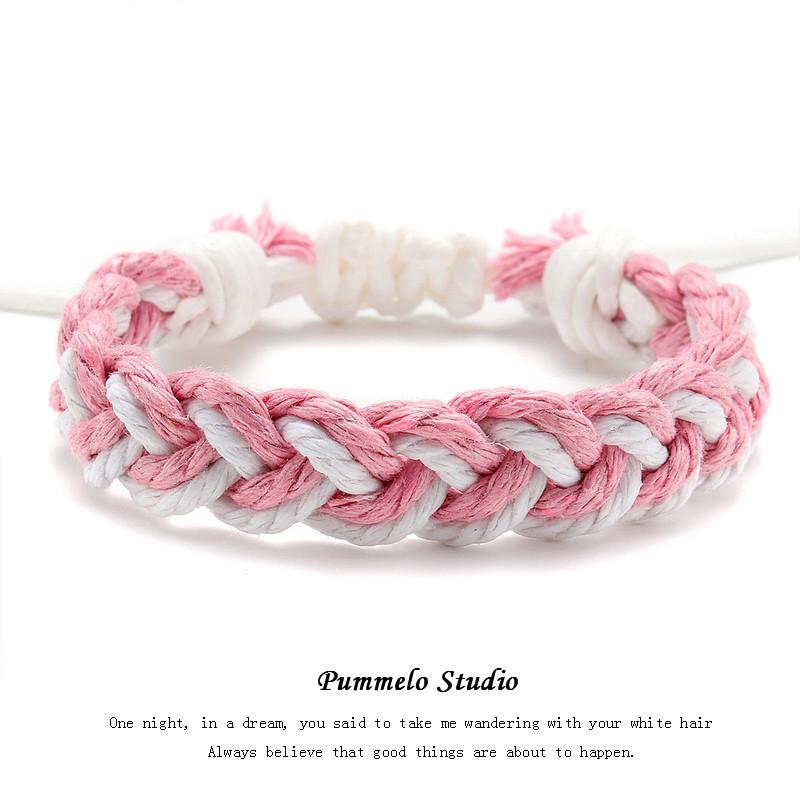 Rosa e branco (Single Rope) Mancha