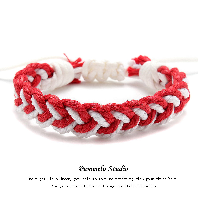 Red and White (Single Rope) Mancha