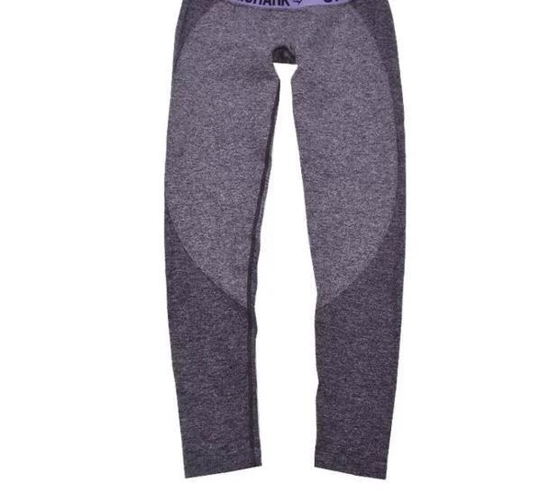 Viola pantaloni-con il logo
