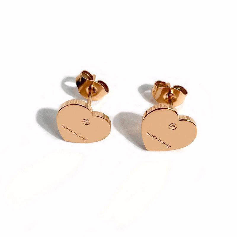 Earrins-Rose d'or