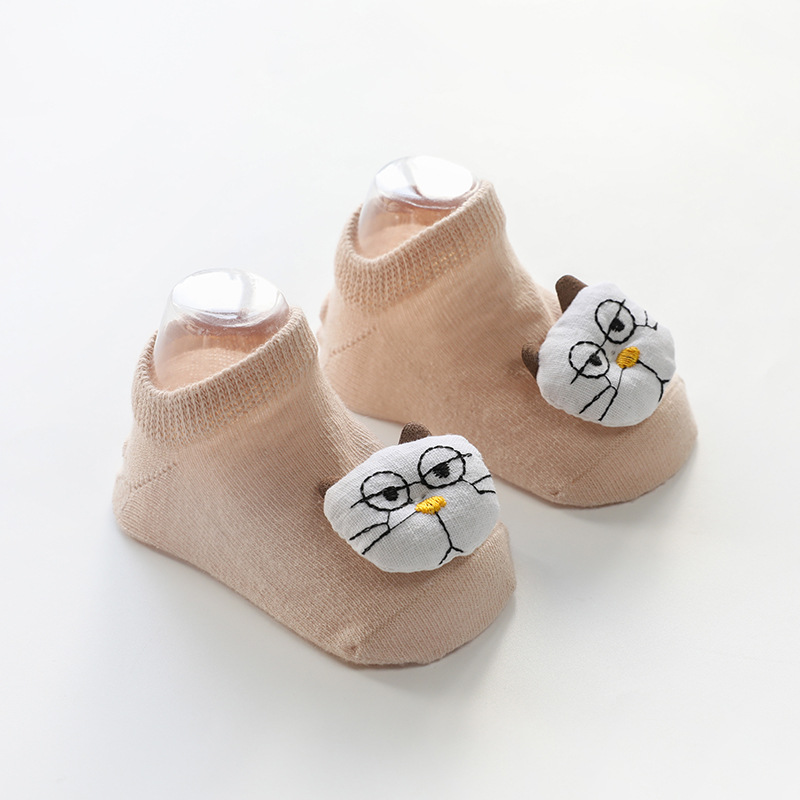 Doll Ankle Socks with Cat Patterns