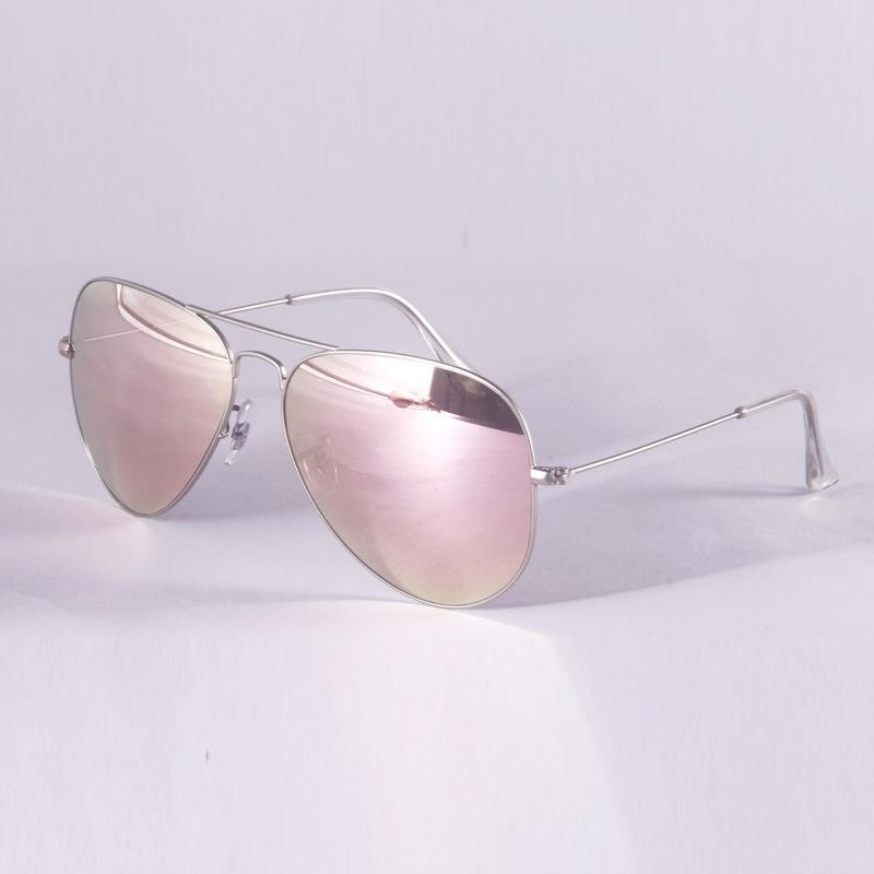 silberner Rahmen-rosa Spiegel