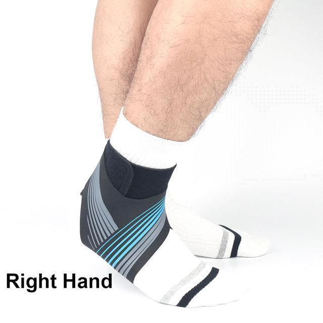 Bleu - pied droit