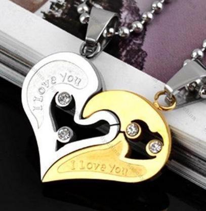 Gold silve + runde Perlenkette