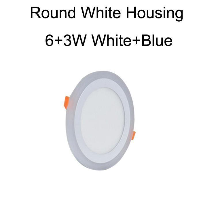 جولة الأبيض الإسكان 6 + 3W الأبيض + الأزرق