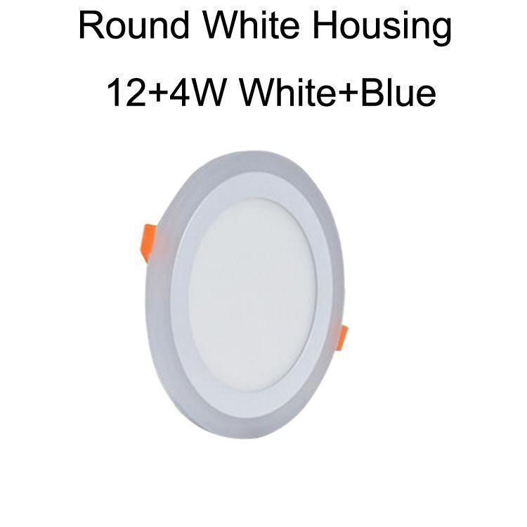 جولة الأبيض الإسكان 12 + 4W الأبيض + الأزرق