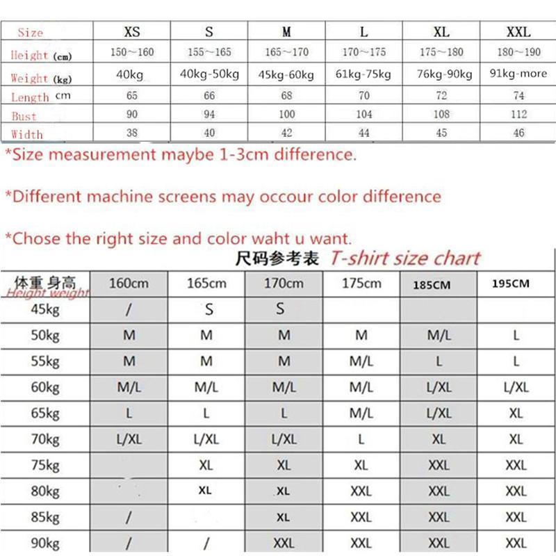 Tabela de referência de tamanho