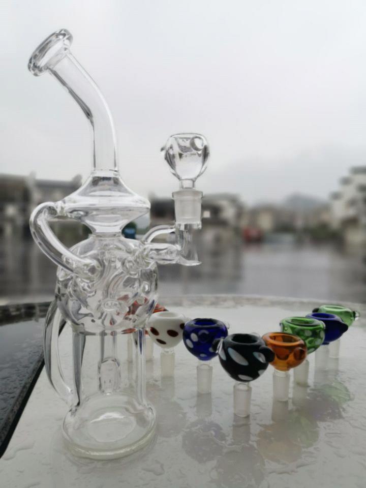 bong: mit gelegentlicher Farbe der Glasschüssel