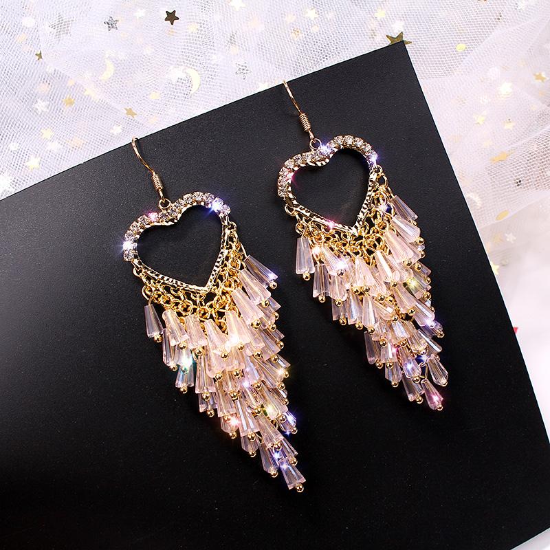 Прекрасный кристалл кисточкой розовый El659