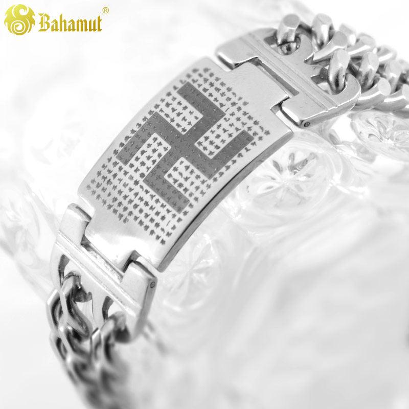 Budist Gümüş Bilezik