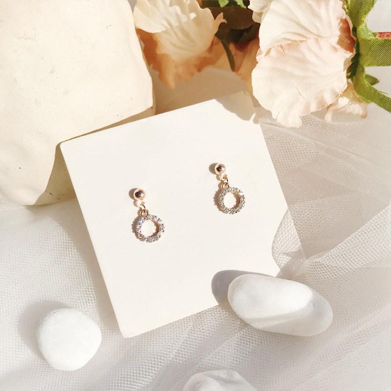Oro Rosa Pendientes de plata S925 Necesidad