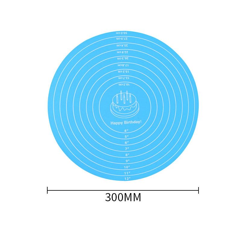 30x30 cm Runde.