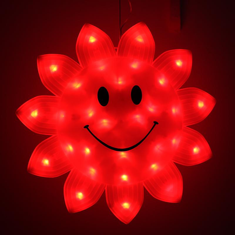 Red Light LED de 33 centímetros rosto sorridente