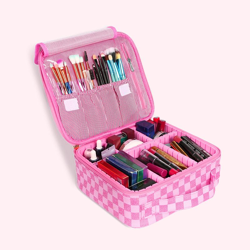 Pink Plaid (Hard Bag)