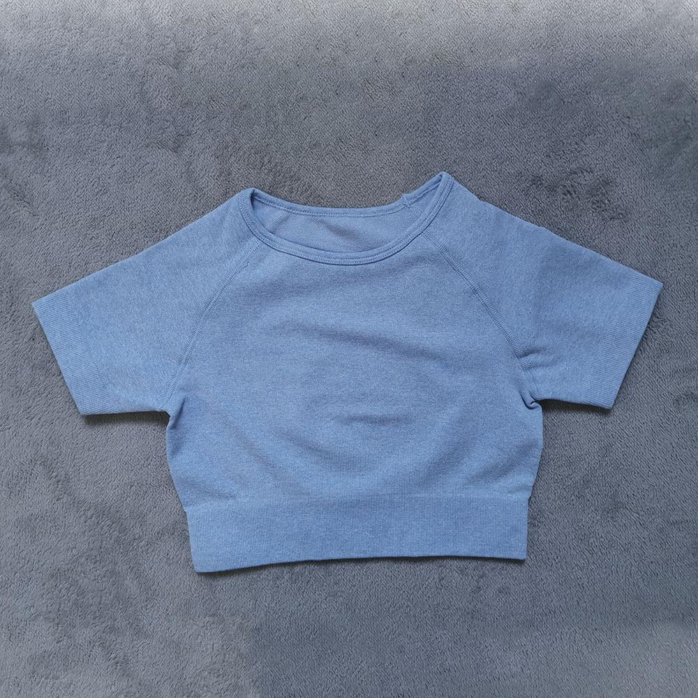 Azul de manga curta