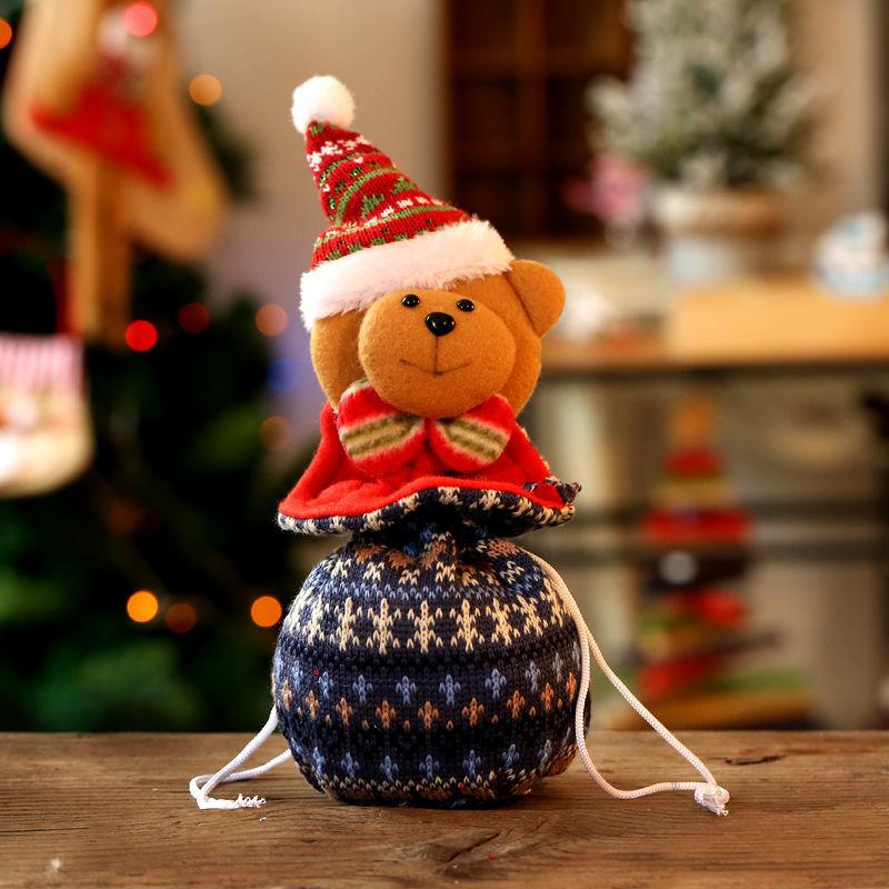 13 * 25 cm örme-Noel ayısı