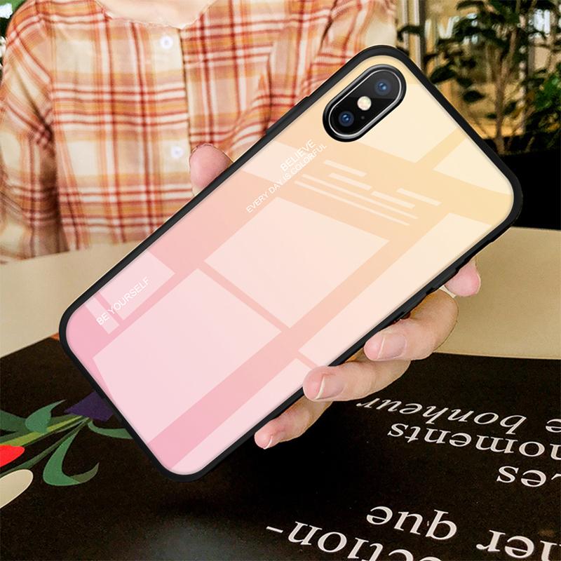 Jaune à rose pour iphone 6 6s