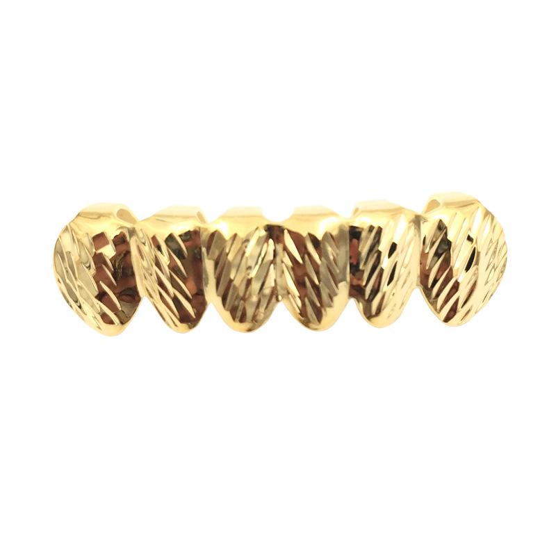 Flor de oro de oro dientes inferiores