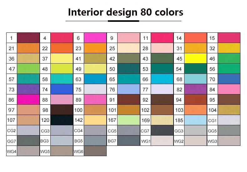 Дизайн интерьера 80 цветов