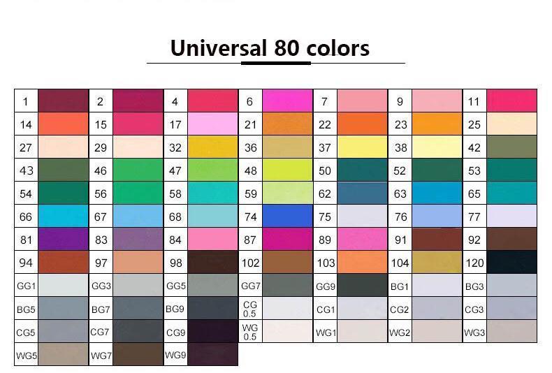 Универсальный 80 Цветов