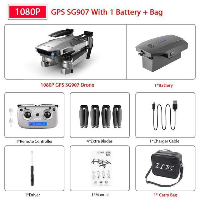 1080P + Portable Beutel + 1 * Batterie