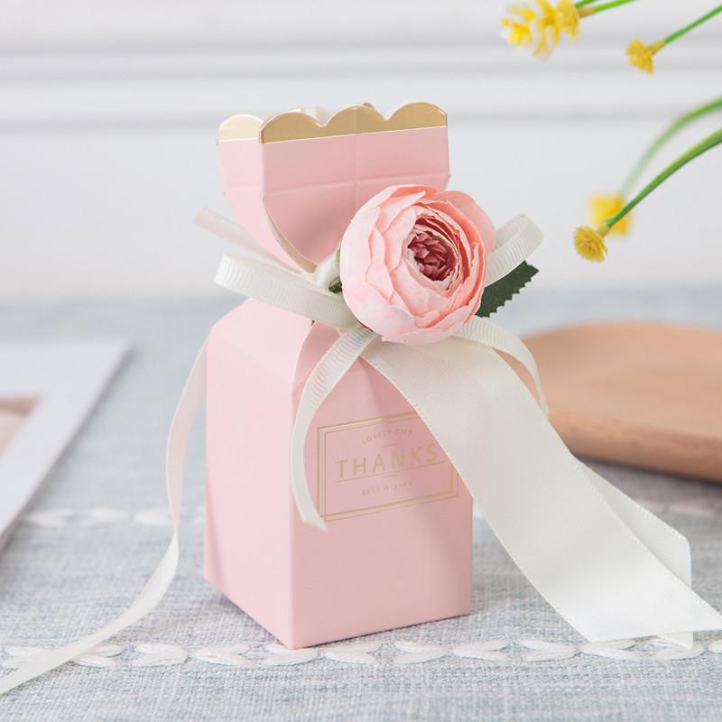 Boîte de vase rose 20pcs