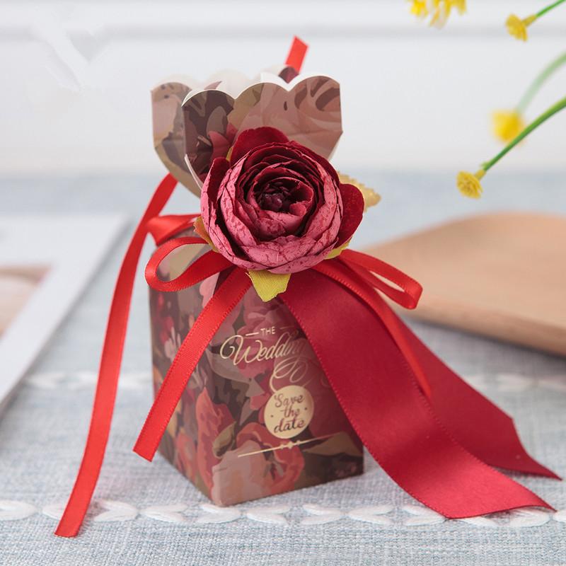 Boîte de vase rouge 20pcs