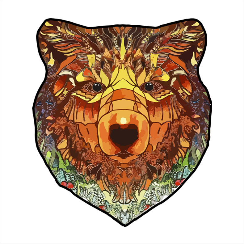 A3 Bear Wood Box