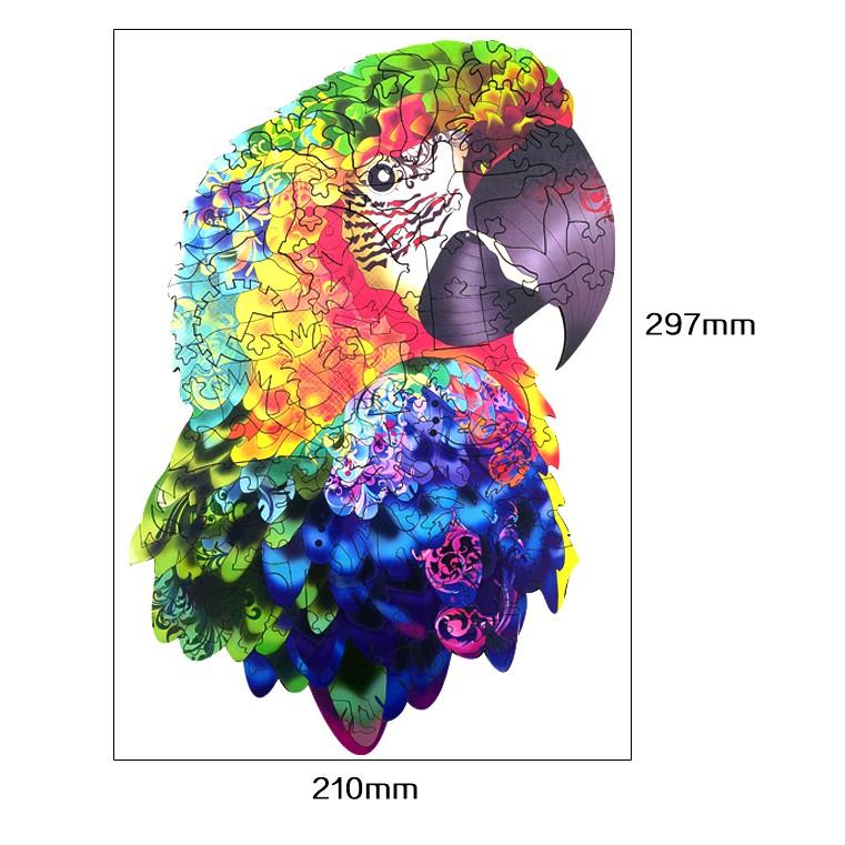Пакет бумаги попугая упаковка (размер A4)