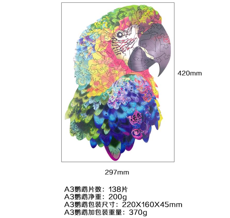 Parrot деревянная упаковка (размер A3)