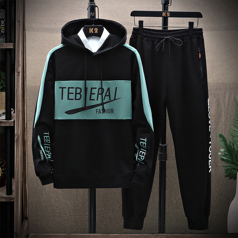 TZ8619 Siyah ve Yeşil (Kazak Pantolonları