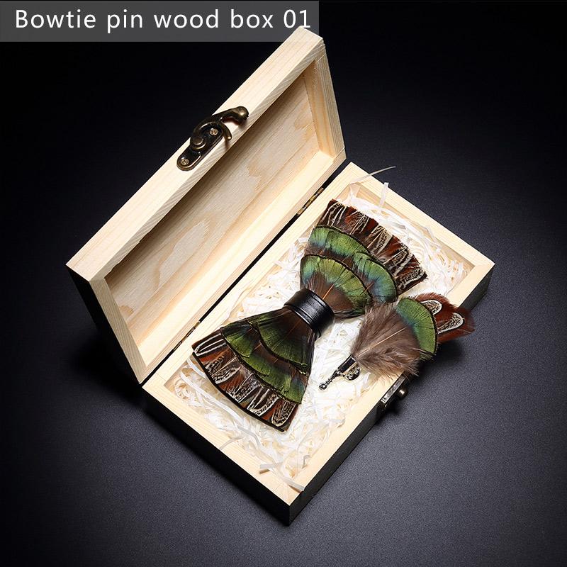 Scatola di legno a forma di cravatta a farfalla1