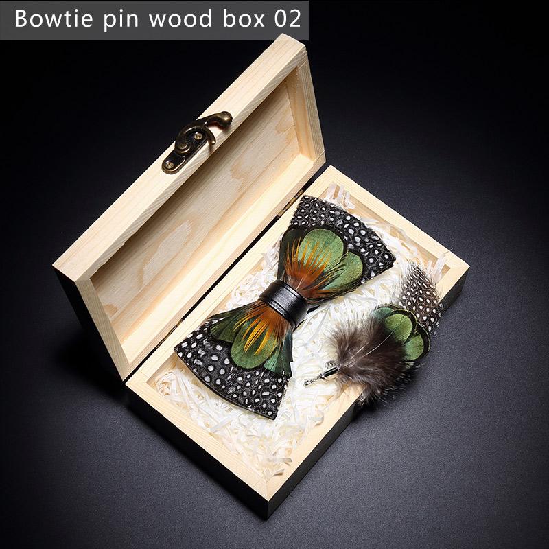 Scatola di legno a forma di cravatta a farfalla 2