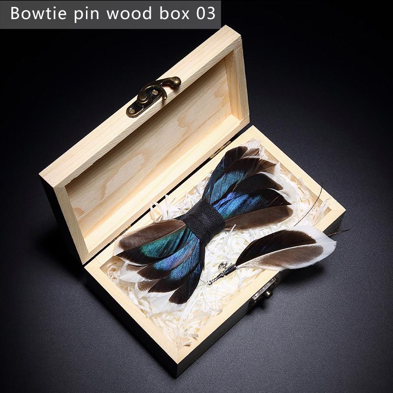 Scatola di legno a forma di cravatta a farfalla3
